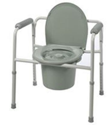 Picture of Three-in-One Steel Commode with Plastic Armrests