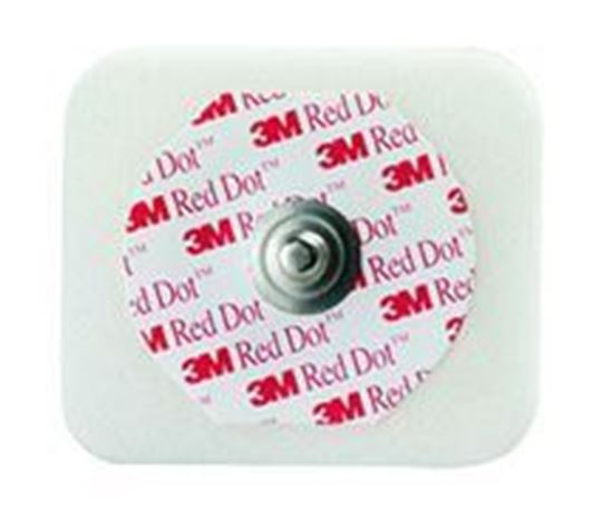 Picture of 3M™ Red Dot™ Monitoring Electrodes Foam Tape Sticky Gel #2560