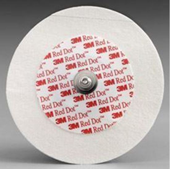Picture of 3M™ Red Dot™ Adult Electrodes w/ Micropore Tape + Abrader