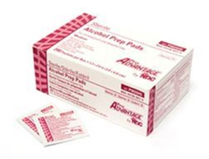 Picture of Pro Advantage® Alcohol Prep Pads (70% Isopropyl), Medium Pad, 1/pkg, 200pkg/box
