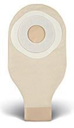 """Picture of One Piece Drainable 12"""" Pouch, 1½"""" Pre-Cut Stoma Skin Barrier, Box/10, Trnsprnt"""