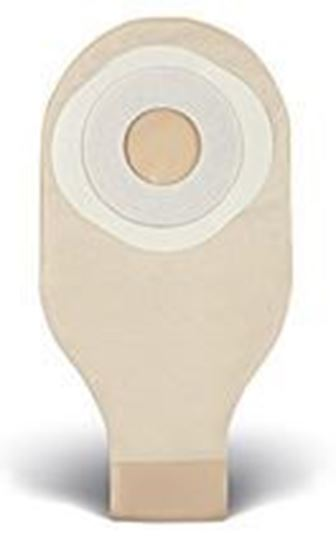"""Picture of One Piece Drainable 12""""  Pouch, 2"""" Pre-Cut Stoma Skin Barrier, Tape, Clip, Opaque"""