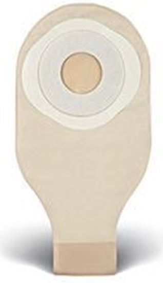 """Picture of One Piece Drainable 12""""  Pouch, 2"""" Pre-Cut Stoma Skin Barrier, Tape, Clip, Trnsprnt"""