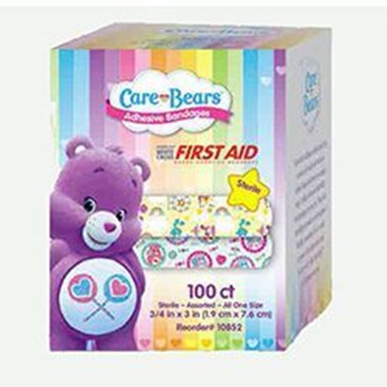 """Picture of Adhesive Bandage, ¾"""" x 3"""", Care Bears™, Stat Strip®"""