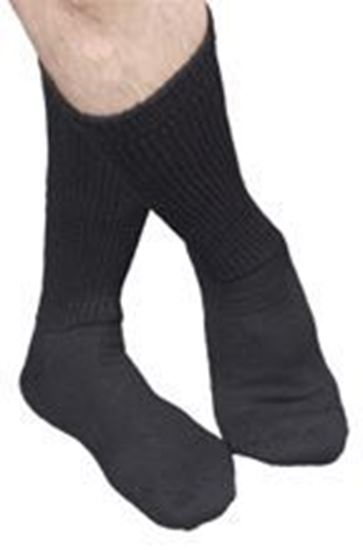 Picture of Advance Diabetic Socks, X-Large (13-16), Crew, Black
