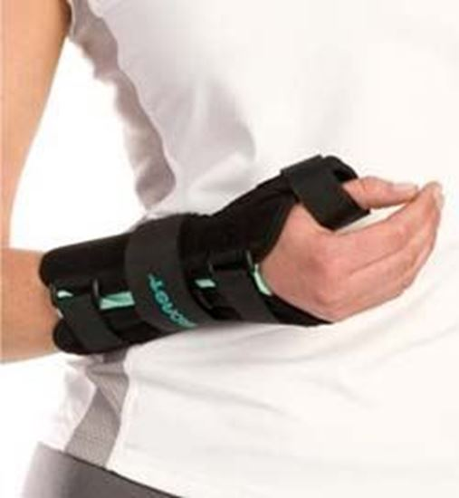 Picture of Aircast® A2™ Wrist Brace with Thumb Spica,  Black, Medium, Right