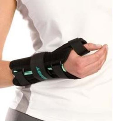 Picture of Aircast® A2™ Wrist Brace with Thumb Spica, Black, Large, Left
