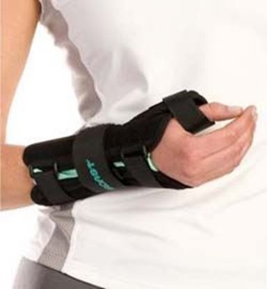 Picture of Aircast® A2™ Wrist Brace with Thumb Spica, Black, Large, Right