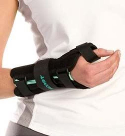 Picture of Aircast® A2™ Wrist Brace with Thumb Spica, Black, Small, Right