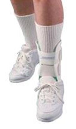 "Picture of AirCast® Air-Stirrip® Ankle Brace, 10.5"" Height, White, Large, Left"