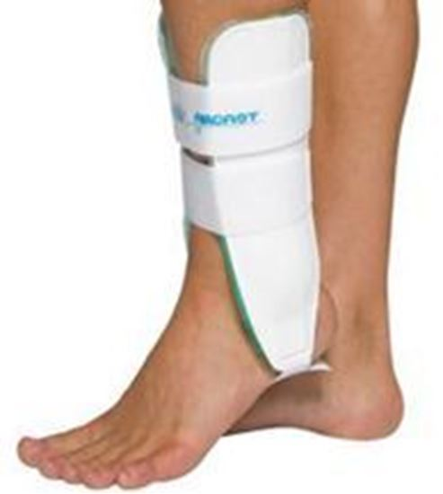 "Picture of AirCast® Air-Stirrip® Ankle Brace, 6"" Height, White, Pediatric, Left"