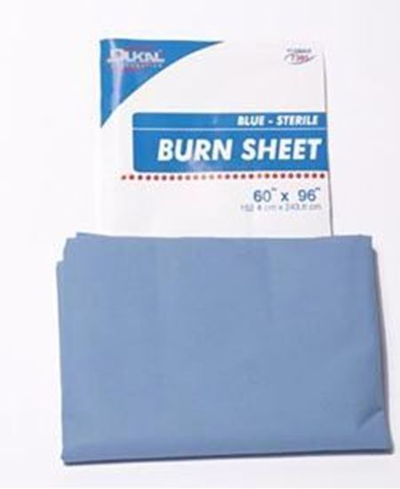 "Picture of Ambulance Cot Disposable Linen, Burn Sheet, Blue, 60"" x 96"", Sterile, Latex Free"