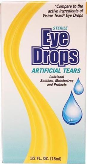 Picture of Artificial Tears Eye Drops, 0.5 oz,