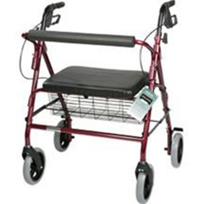 Picture of Bariatric Rollator with Padded Seat, Burgundy