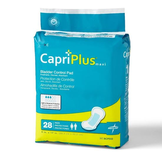 "Picture of Capri Plus Bladder Control (Incontinence) Pad, 10.5""L, 28 count"
