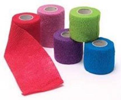 "Picture of Cohesive Bandage, Assted Colors,2""x5 yds,(8-Blue,8-Purple,8-Red,6-Green,6-Pink)"
