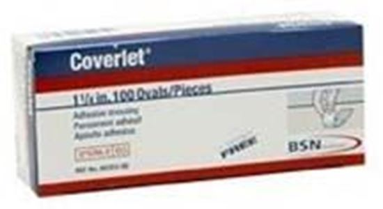 """Picture of Coverlet® Latex Free Spots, 1.25"""", Oval"""