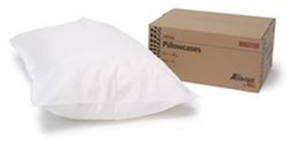 """Picture of Disposable Pillowcases, Tissue/Poly, 21"""" x 30"""", White"""