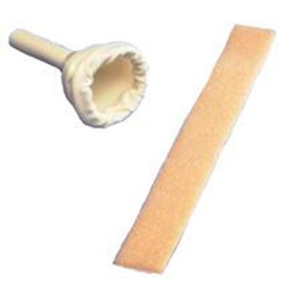 "Picture of Dover™ Male External Catheter, 1.3"",Soft,Lightweight,Hard Plastic Tip,Foam Strap"