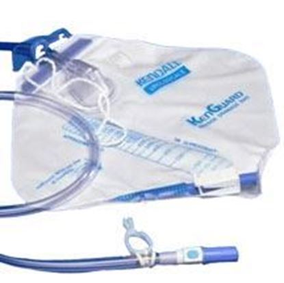 Picture of Dover™ Urine Drainage Bag, 2000mL,Needle Sampling,Anti-Reflux Chamber Drain Tube