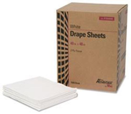 """Picture of Drape Sheet, 2-Ply, Tissue, 40"""" x 48"""", White"""