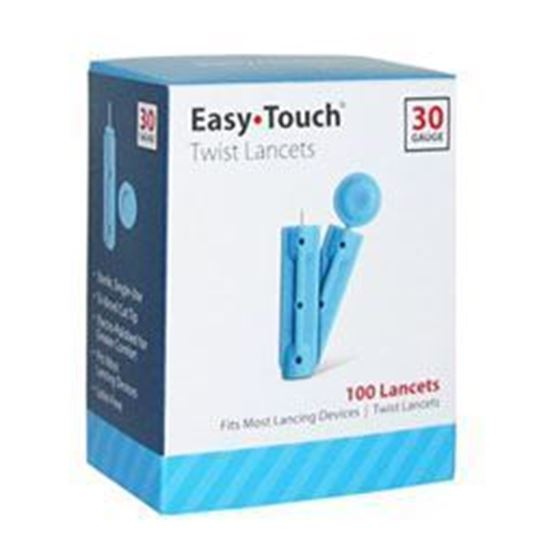 Picture of EasyTouch® Twist Lancets, 30g, 100ct