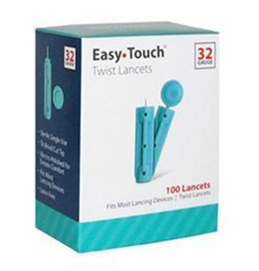Picture of EasyTouch® Twist Lancets, 32g, 100ct