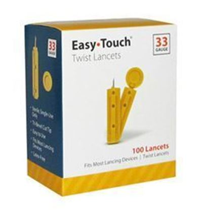 Picture of EasyTouch® Twist Lancets, 33g, 100ct