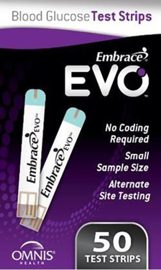 Picture of Embrace® Evo Blood Glucose Test Strips, Retail, 50ct