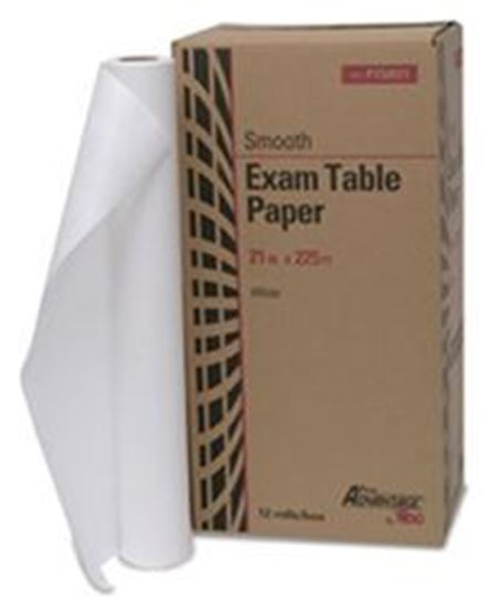 """Picture of Exam Table Paper, 21"""" x 225 ft, White, Smooth"""