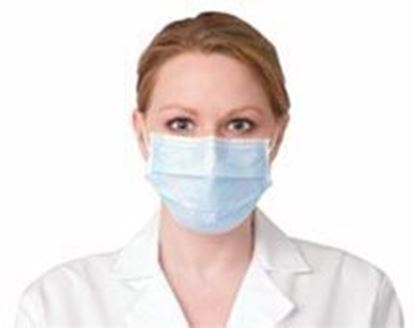 Picture of Face Mask, Procedure, Earloop, Blue  (Non-Refundable item – No Returns)