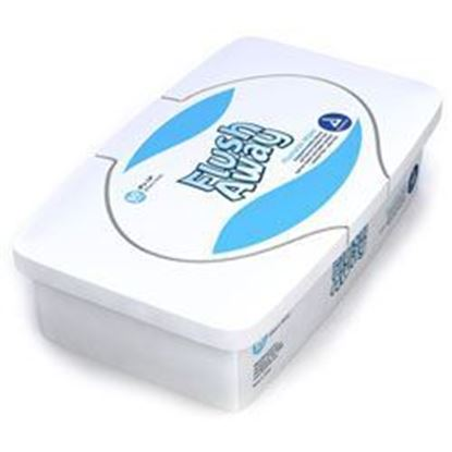 "Picture of Flush Away Flushable Wipes, 9"" × 13"" (Adult) Tub Pack"