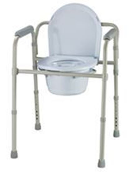 Picture of Folding Commode with bucket and lid