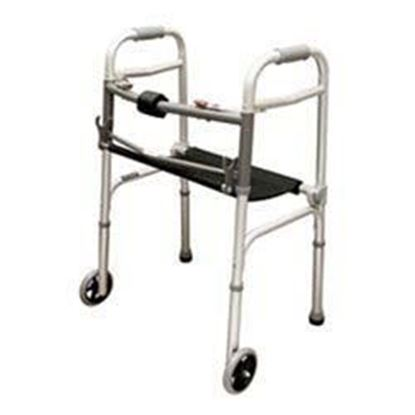 "Picture of Folding Walker / Rollator with Seat and 5"" Wheels"
