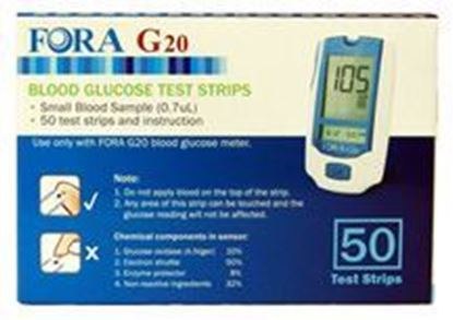 Picture of G20 Blood Glucose Test Strips 50ct