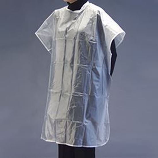 """Picture of Grafco® Apron (Poncho Style), Velcro®-Type Neck Closure, Clear Vinyl, NS,  54"""" x 36"""""""