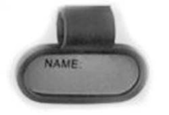 Picture of ID Tag for Stethoscope, Plastic, Black