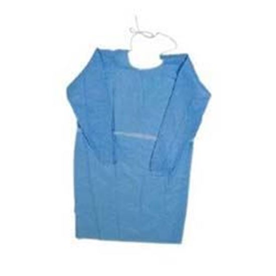 Picture of Impervious Gown, Blue, X-Large, Thumb Loop, Box/15