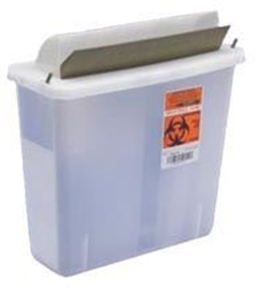 Picture of In-Room™ Sharps Container with Mailbox-Style Lid, 2qt, Clear