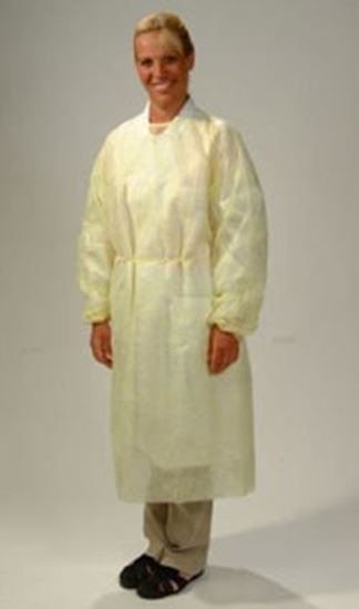 Picture of Isolation Gown, X-Large, Yellow