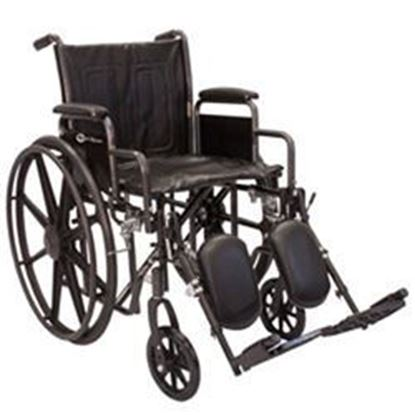"Picture of K1-Lite Wheelchair, 16"", Slide Tube Frame, Removable Arms, Elevating Legrests"
