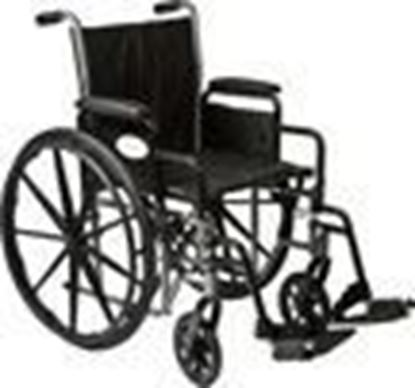 "Picture of K2-Lite Wheelchair, 18"", Slide Tube Seat, Removable Arms, Elevating Leg rests"