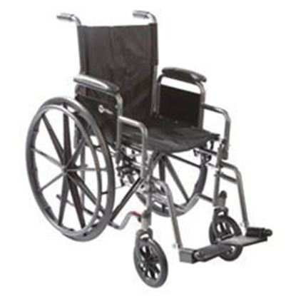 "Picture of K3-Lite Wheelchair, 18"", Cross Brace Seat, Removable Arms ,Swing-Away Footrests"