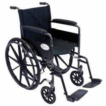 "Picture of K4-Lite Wheelchair, 18"", Cross Brace Seat, Flip Back Arms, Elevating Legrests"