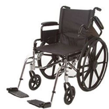"Picture of K4-Lite Wheelchair, 18"", Cross Brace Seat, Flip Back Arms, Swing-Away Footrests"