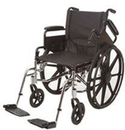 "Picture of K7-Lite Wheelchair HD 22"", Slide Tube Seat, Removable Arms, Swing-Away Footrests"