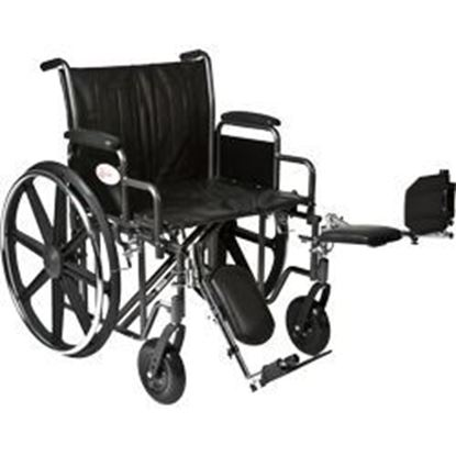 "Picture of K7-Lite Wheelchair HD 24"", Slide Tube Seat, Removable Arms, Elevating Legrests"