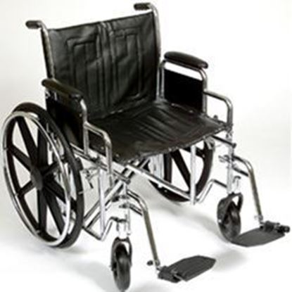 "Picture of K7-Lite Wheelchair HD 24"", Slide Tube Seat, Removable Arms, Swing-Away Footrests"