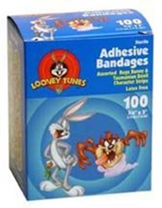 "Picture of Looney Tunes™ Stat Strip® Bandages, 3/4"" x 3"", Bugs Bunny & Tasmanian Devil"
