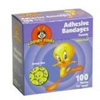"Picture of Looney Tunes™ Stat Strip® Bandages, 3/4"" x 3"", Tweety Boy & Girl Assortment"